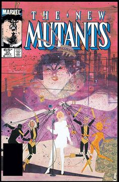In September of Bill Sienkiewicz ended a well-noted and long-remembered thirteen-issue run as the artist of The New Mutants. His final issue, The New Mutants wraps an un… Marvel Comics Art, Marvel Dc Comics, Comic Book Covers, Comic Books Art, Book Art, The New Mutants, Comic Kunst, The Uncanny, John Keats