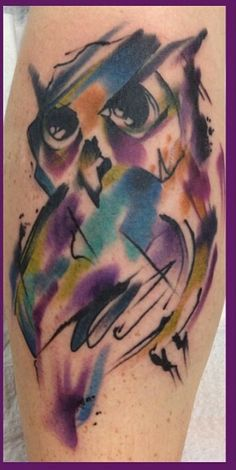 Owl tattoo cool tattoo watercolor tattoo tattoos