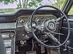 Old, Car, Steering, Wheel, Odometer