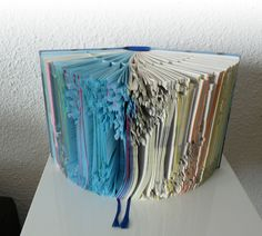 Folded Book Art Sculpture Folded Book Art, Book Folding, Quentin Blake, Paper Architecture, Recycled Books, Altered Book Art, Paper Magic, Book Sculpture, Handmade Books