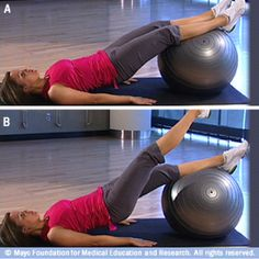 slide show: core-strength exercises with a fitness ball Core Strength Exercises, Stability Ball Exercises, Strength Workout, Core Stability, Core Exercises, Gluteal Muscles, Core Muscles, Abdominal Muscles, Fitness Diet