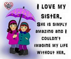 Top Images Of Love You Sister