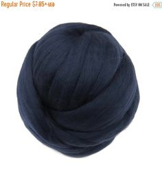 SALE 16 Micron Merino wool Roving Luxury Fiber for felters and spinner (Night)