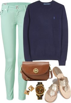 """""""More Polo Sweatshirt (cleaning out some drafts!)"""" by classically-preppy ❤ liked on Polyvore"""