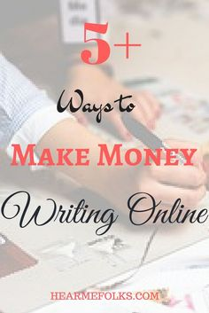 Are you looking to make a living by exposing your writing abilities. Click here to read the top 5 ways to make money writing online or save for later. http://hearmefolks.com/2011/12/make-money-writing-online/