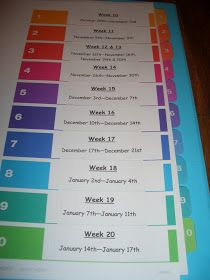 Lesson Plan Binder Organization: Instead of putting dates on tabs, organize by units. That way, your binder is easily reusable every year and you can re-arrange the sequence if needed.