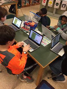 """Elmwood Robotics and Coding club exploring Code Monkey @jeffrey_hogan @elmwoodes"""