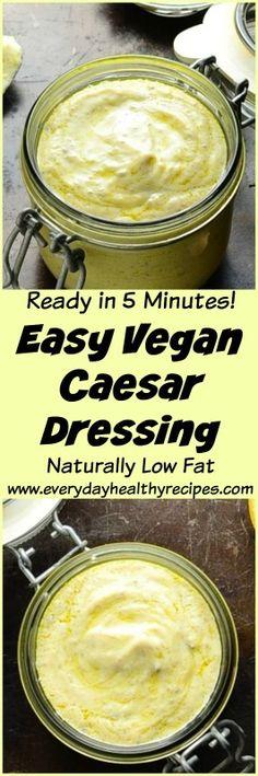 Easy Vegan Caesar Dressing #saladdressings #caesarsalad #dressing #veganrecipes #silkentofu #easyrecipe #dairyfree #glutenfreerecipes #healthyfood #lowcarbdiet