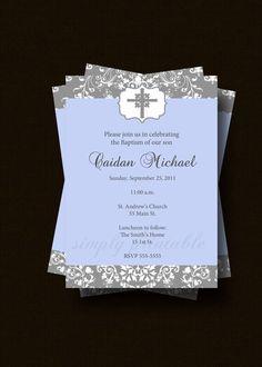 Boys Communion Invitation by simplyprintable on Etsy https://www.etsy.com/listing/124054466/boys-communion-invitation