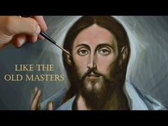How to paint a portrait of Jesus with egg tempera - El Greco style - YouTube Painting Videos, Painting & Drawing, Be My Teacher, Jesus Face, Byzantine Art, Process Art, Tempera, Old Master, Learn To Paint
