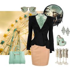 Black and Mint on Polyvore