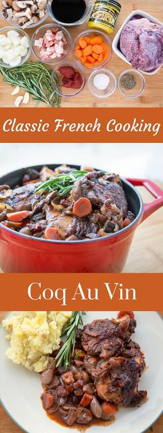 My Coq Au Vin Recipe is a traditional French classic that has layers of flavor that will have your dinner guests moaning. #ad