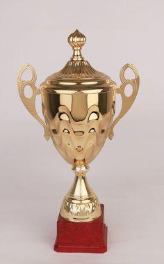 Big Font B Gold Metal Trophy