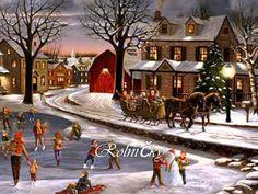 Vermont Christmas Company Santa sur Un Train Jigsaw Puzzle 1000 Pièces Merry Christmas, Christmas Scenes, Christmas Cards, Vintage Christmas, Christmas Images, Christmas Artwork, Christmas Decorations, Christmas Paintings, Wall Decorations