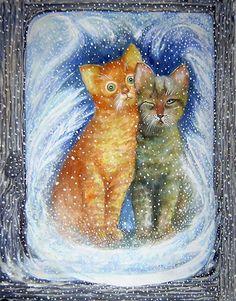 Кошки и зимние окна. — СундучокИванов Максим. Котята.