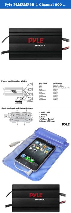 97 Best Amplifiers, Car Audio, Car Electronics, Car ...  Channel Amp Speakers Sub Wiring Diagram Pyle Hydra on
