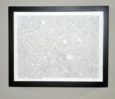 I have black & white maps all over my house. I love them.
