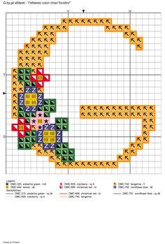 alfabeto colori chiari fiorellini: G
