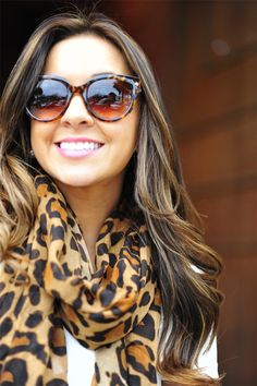 lepoard print scarf  follow me on facbook Madeleine Batiot xo