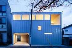 設計事務所アーキプレイス 桜並木と暮らす家 外観夕景