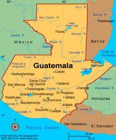 Mapa de Guatemala - map of Guatemala