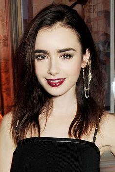 Lady is a Vamp: Best Dark Lips of 2012 - Lily Collins