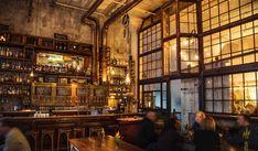 In SF's Restored Smokestack at Magnolia Brewing, A Trip Back In Time – Design*Sponge San Francisco Bars, San Francisco California, Cafe Restaurant, Restaurant Design, Restaurant Photos, Restaurant Interiors, Restaurant Ideas, Do It Yourself Design, Brew Pub