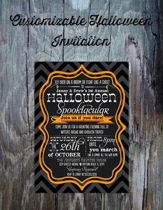Halloween Party InvitationPrintable by FeatheredHeartPrints, $15.00