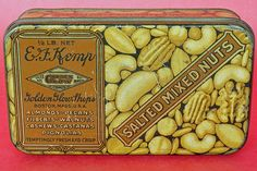 Vintage E.F. Kemp Salted Mixed Nuts Tin c.1926 - $10
