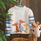 Mary Maxim - Knit & Crochet Cardgians, Sweaters for Kids Giraffe hand knit Baby Boy Sweater, Knit Baby Sweaters, Knitted Baby Clothes, Baby Knitting Patterns, Baby Patterns, How To Start Knitting, Knitting For Kids, Intarsia Knitting, Hand Knitting