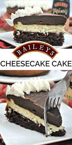 Yummy Baileys Cheesecake Cake – this is so good! Yummy Baileys Cheesecake Cake – this is so good! Baileys Cheesecake, Cheesecake Cake, Chocolate Cheesecake, Cheesecake Recipes, Baileys Cake, Classic Cheesecake, Baileys Irish, Cheesecake Bites, Strawberry Cheesecake