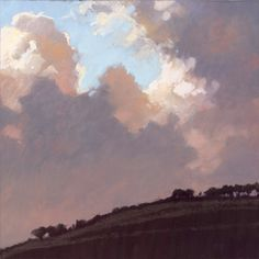 VOSE GALLERIES LLC - LIZ HAYWOOD-SULLIVAN - ETHEREAL Abstract Landscape, Landscape Paintings, Nocturne, Sky Painting, Art Sites, Sky Art, Traditional Paintings, Sky And Clouds, Beautiful Landscapes