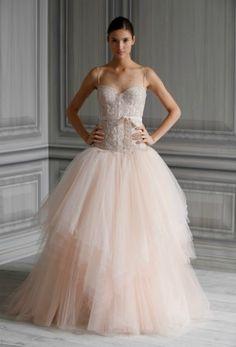 Vestido de novia Monique Lhullier 2012 con falda de tul