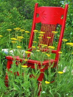 Organized Clutter: Chair Planter Ideas