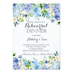 #bridal - #Blue hydrangea Shower Invitation
