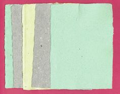"#Handmade paper, 5 Sheets of deckle edge recycled paper, approximately 5"" x 7"".   Handmade Paper is…"