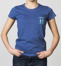 GIRLS - EQIP-11 print T-shirt - true navy. For girls who also want to radiate team spirit and sportsmanship off the field.