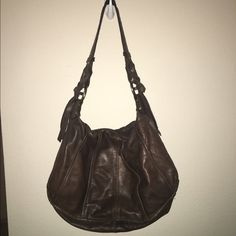 Final sale - shoulder purse (real leather) Brown This is a brown leather purse that is made out of leather in Italy. I bought it at tj maxx. In great condition! Real leather! And goes with a lot of outfits Nicoli Bags Shoulder Bags