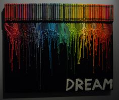 DIY Crayon Art with black background instructions and supply list