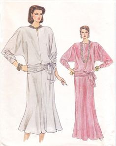 1980s Very Easy Vogue Sewing Pattern 9147 Womens by CloesCloset, $11.00