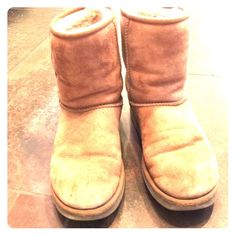 AUTHENTIC classic Uggs Intro price for 2nite only Chestnut colour, comfy warm, classic used uggs.  No flaws other than normal wear. UGG Shoes
