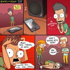 yrbff: don't be that person.[by booksofadam] Adam Ellis Comics, Beste Comics, Comic Text, Really Funny Pictures, Funny Comic Strips, Funny Memes, Hilarious, Anime Undertale, Pokemon Comics