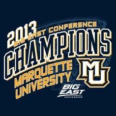 Marquette Big East Champions tee available at Marquette Spirit Shop.  Stop in or call 414-288-3050 to order