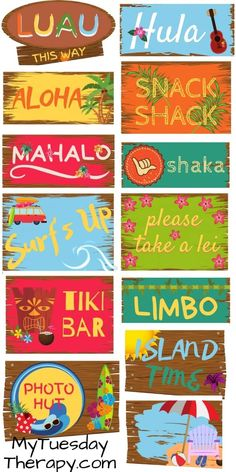 2020 Graduation Ideas Discover Luau Printables 50 Pages of Hawaiian Fun Easy Luau Party Decorations DIY. Have summer fun by hosting a Hawaiian luau party! Greet the guests with Aloha sign! Display other luau signs to create the warm aloha feeling. Aloha Party, Luau Theme Party, Party Fiesta, Hawaiian Luau Party, Hawaiian Birthday, Tiki Party, Hawaiian Themed Parties, Beach Party, Luau Party Foods