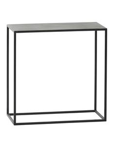 A very useful side table with a minimal metal frame and metal top. The striaghtforward, utilitarian styling will fit in effortlessly with many different styles, introducing an elegant industrial edge. The openness of the design makes this a very useful piece for smaller spaces, where bulkier items can overwhelm.