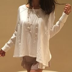 """$68 brand new free people- spring Brand new, size XS , length 24"""" bust 45"""" color : baby angel white , size L sold out Free People Sweaters"""