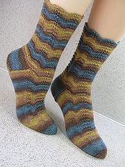 Ravelry: Giles Wavy Socks pattern by Anne Campbell