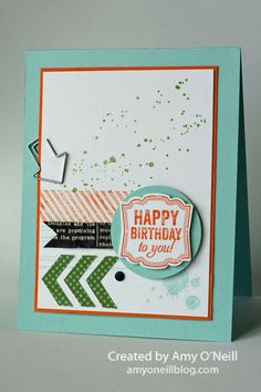 Class GrungeLabel Love, Gorgeous Grunge Ink:  Pumpkin Pie, Pool Party, Gumball Green Paper:  Pool Party, Pumpkin Pie, Whisper White, Epic Day This and That dsp, Modern Medley dsp Embellishments:  Hung Up Cute Clips, Chevron Border Punch, Neutrals Candy Dots, Artisan Label punch, 1-3/4″ Circle punch