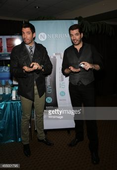 Television personalities Drew Scott and his brother Jonathan Scott arrive at Nerium International at the American Country Awards at the Mandalay Bay Events Center on December 10, 2013 in Las Vegas, Nevada.