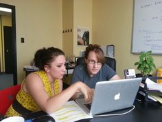 Eliza and Melissa working on a promotional video for Phoenix Idea Lab and the RYOT challenge.